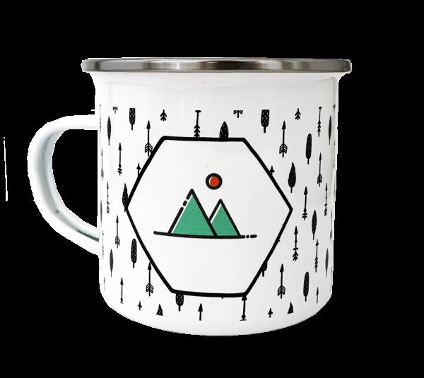 """Emaille-Tasse """"Kaffeepause"""""""